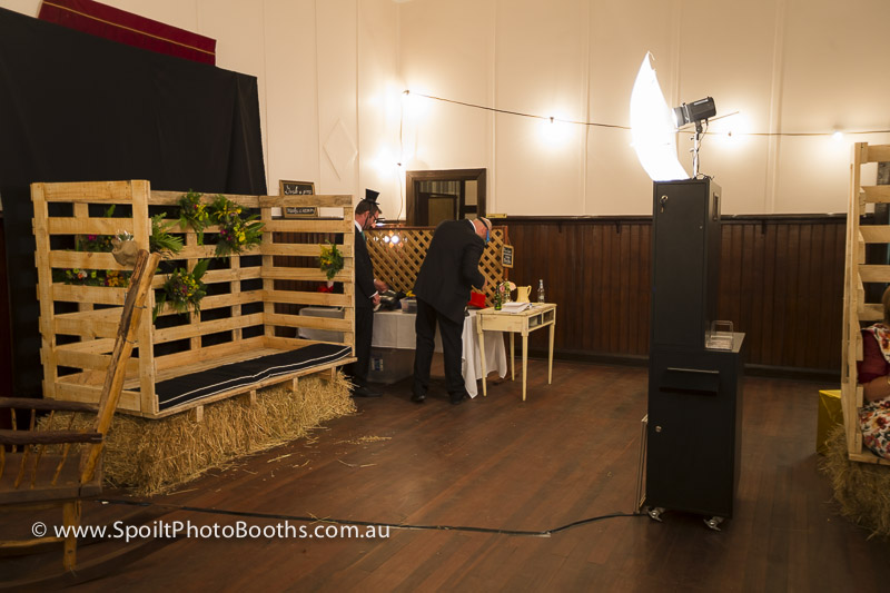 custom photo booth stage