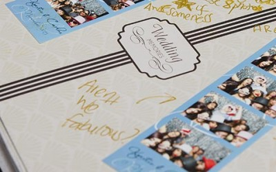 wedding guest book, photo strips, booth